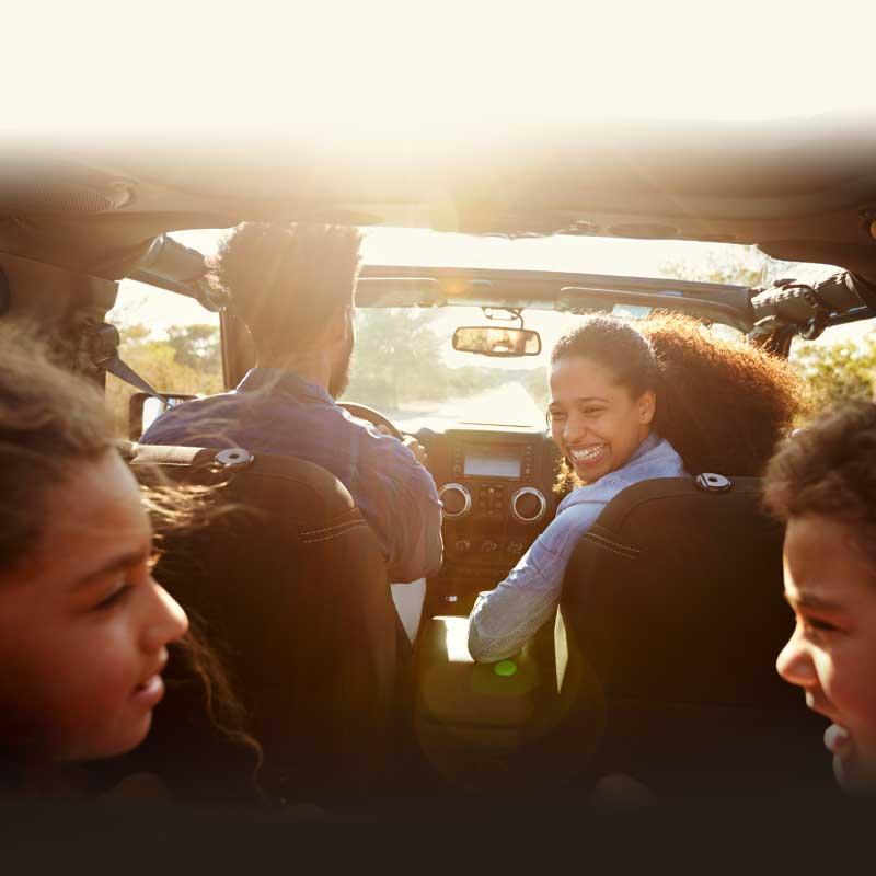 Photo of a Family in Car for Car Safety Guide